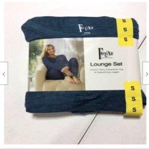 Felina Intimates & Sleepwear - Felina Women's 2 Piece Lounge Set French Terry Top